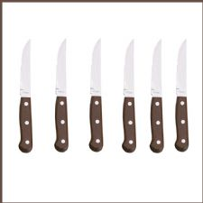 Restaurant Quality 6 STEAK KNIVES with Ultra Sharp Blades.